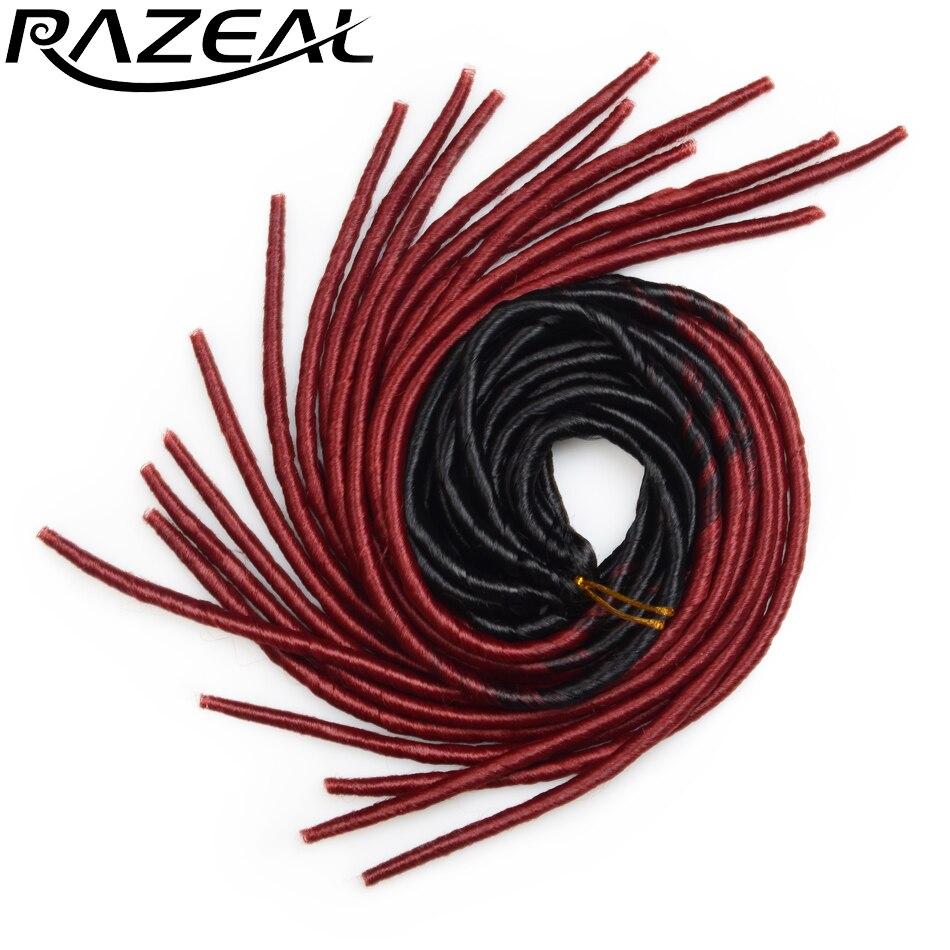 Razeal Синтетические плетения для волос Вязание крючком Косы Искусственные локоны для волос 20 дюймов 20 штативов / упак