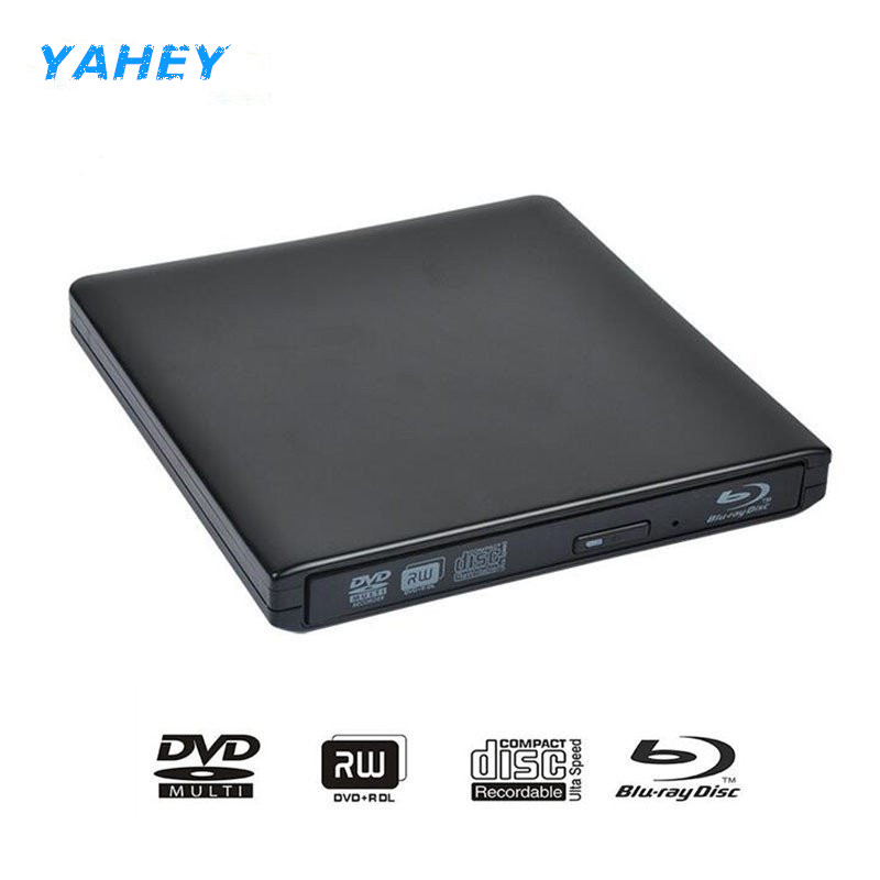цена на Bluray USB 3.0 External DVD Optical Drive Blu-ray Combo BD-ROM 3D Player CD/DVD-RW Burner Writer Recorder for Laptop Computer pc