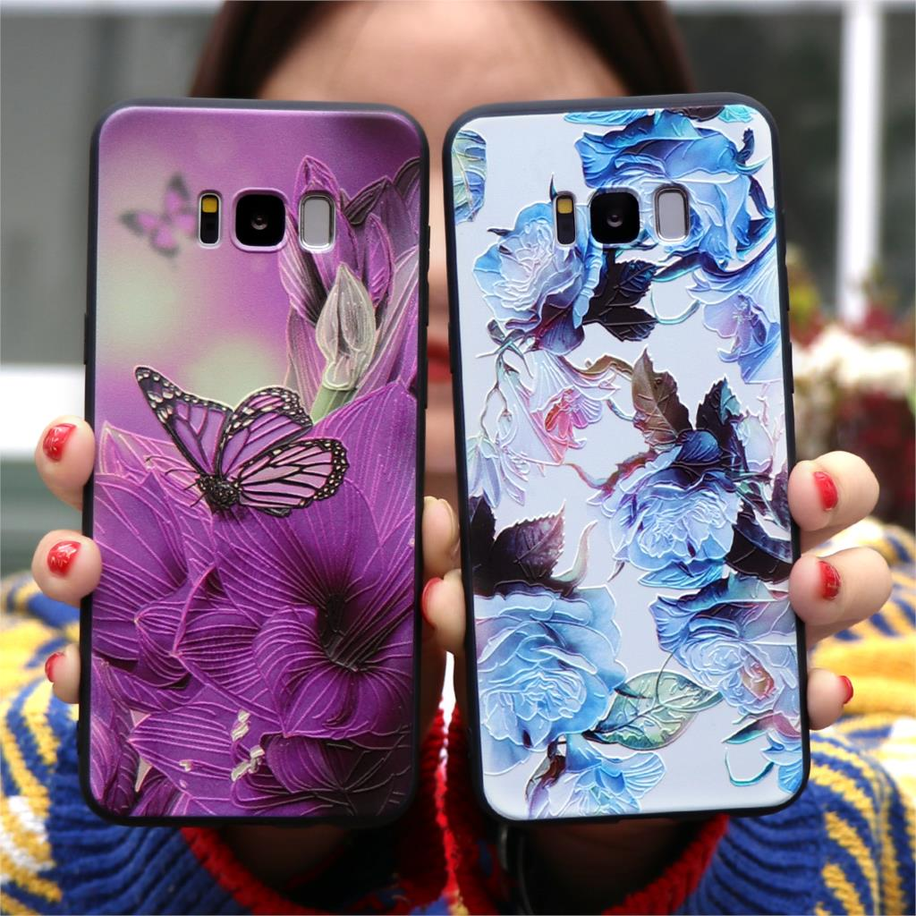 3D Relief Matte TPU Case For Samsung Galaxy S10 S10e S8 S9 M10 M20 J3 J5 J7 A3 A5 2017 J4 J6 J8 Plus A7 A9 2018 Note 8 9 Cover