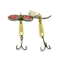 1pcs Spoon Spinner Fishing Lures Artificial Baits Metal Bionic Fishing Tackle Rotate sequins Baits