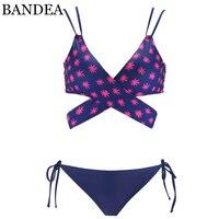BANDEA Sexy Bikini Set 2018 New Criss Cross Swimsuit Women Vintage Bikini Women Padded Swimwear Brazilian