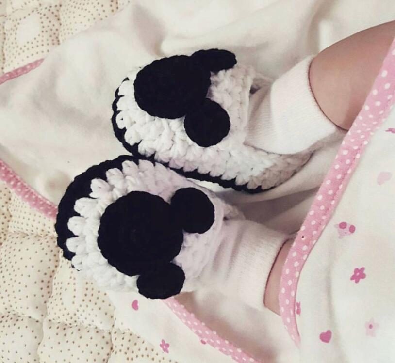 Baby Bear Shoes, Hand-made Shoes,, Cute Cartoon , Newborn Shoes.