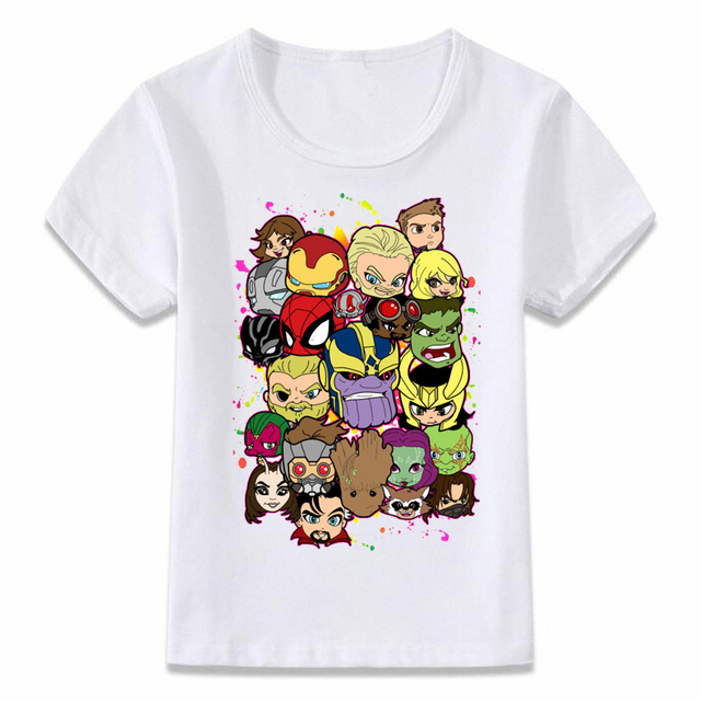 be91f2a38b6 Kids Clothes T Shirt Avengers Infinity War Thanos Thor T-shirt Boys and Girls  Toddler
