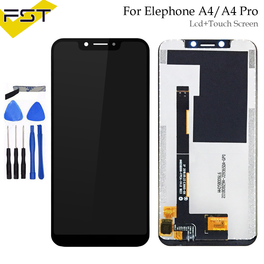 720x1512 5.85'' Black For Elephone A4 / A4 Pro LCD Display+Touch Screen Digitizer Assembly Replacement Parts+Tools