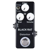Mosky Black RAT Distortion Mini Guitar Effect Pedal