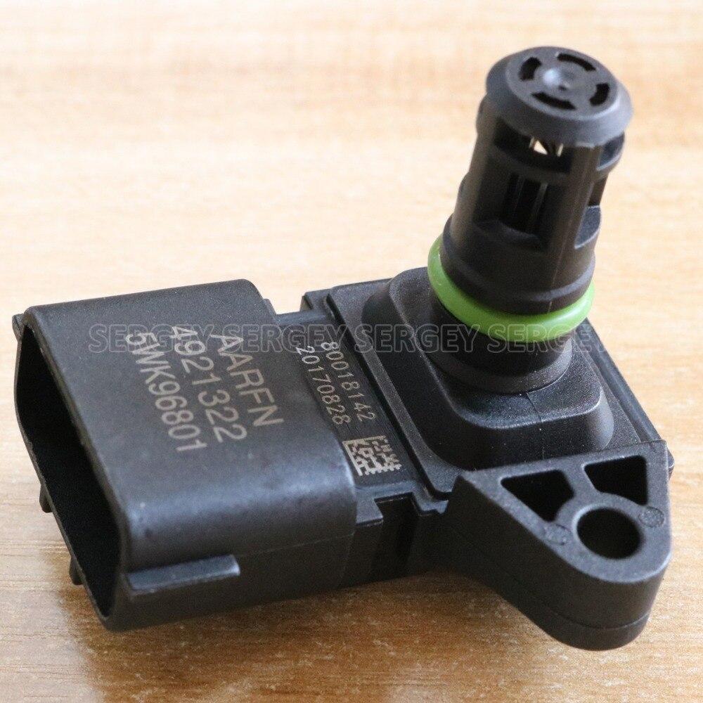 1X do Colector de Admissão Sensor de Pressão de Ar Para DODGE Ram 2500 3500 6.7L 5WK9 Do Motor 4921322 6801 2897333 Para CUMMINS ISF 2.8 3.8 MAPA
