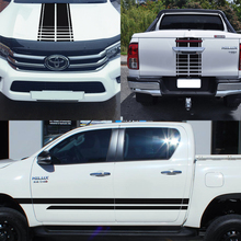 где купить free shipping  4x4 racing styling side door stripes hood graphic car sticker kits for TOYOTA HILUX  2015- по лучшей цене