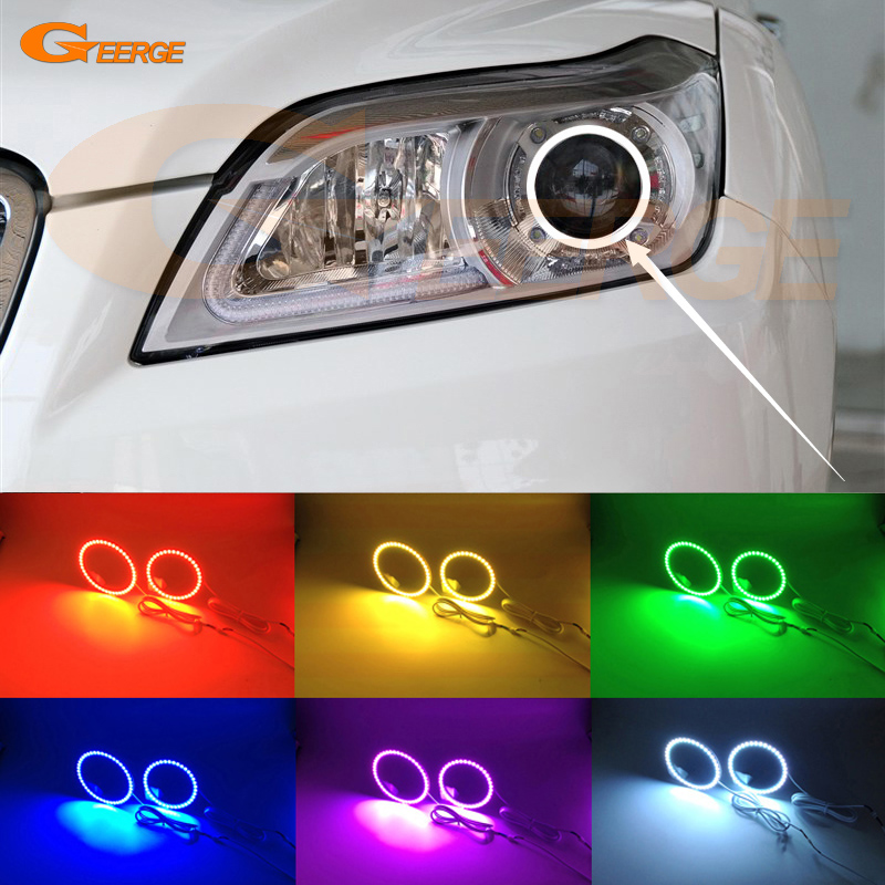 For Lifan X60 2011 2012 2013 2014 2015 Excellent Angel Eyes Multi-Color Ultra bright RGB LED Angel Eyes kit Halo Ring for lifan 620 solano 2008 2009 2010 2012 2013 2014 excellent ultra bright illumination smd led angel eyes halo ring kit