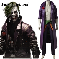 Injustice 2 Joker Cosplay Costume Custom made Halloween costumes for adult Fancy costume Injustice League joker suit custom made