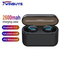 case iphone 5 Twinbuys Wireless Earphones TWS Bluetooth 5.0 Headsets 2600mah charging case Mini Bluetooth headphones for xiaomi iphone samsung (1)