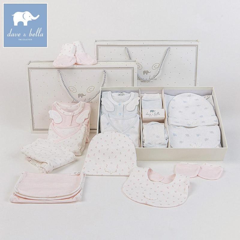 DB6196 dave bella printemps automne nouveau-né 0-9 M bébé vêtements ensembles unisexe infant toddler 8 ensembles 100% coton costumes