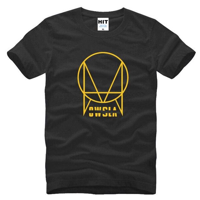 Owsler Skrillex Logotipo Impresso Homens T Tshirt Da Camisa Da Forma Dos Homens 2016 Nova Manga Curta O Pescoço de Algodão T-shirt Tee Camisetas Hombre