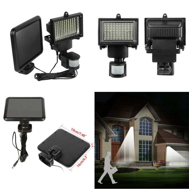 Waterproof 100 LED Solar Powered Sensor Light Security Flood Motion Garden LampWaterproof 100 LED Solar Powered Sensor Light Security Flood Motion Garden Lamp