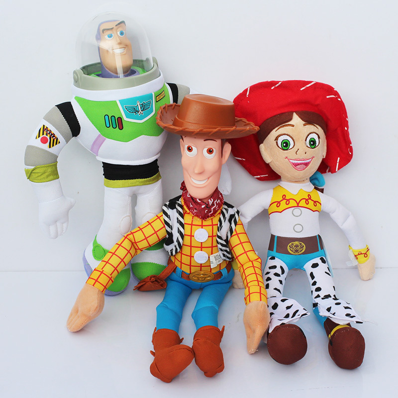 3pcs set toy story buzz nightyear jessie woody plush toy. Black Bedroom Furniture Sets. Home Design Ideas
