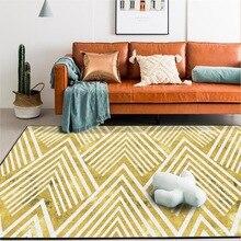 Fashion Nordic geometric Golden mountain peak carpet bedroom plush rug custom made non-slip floor mat Living room door mat golden color custom made backlit door house numbers