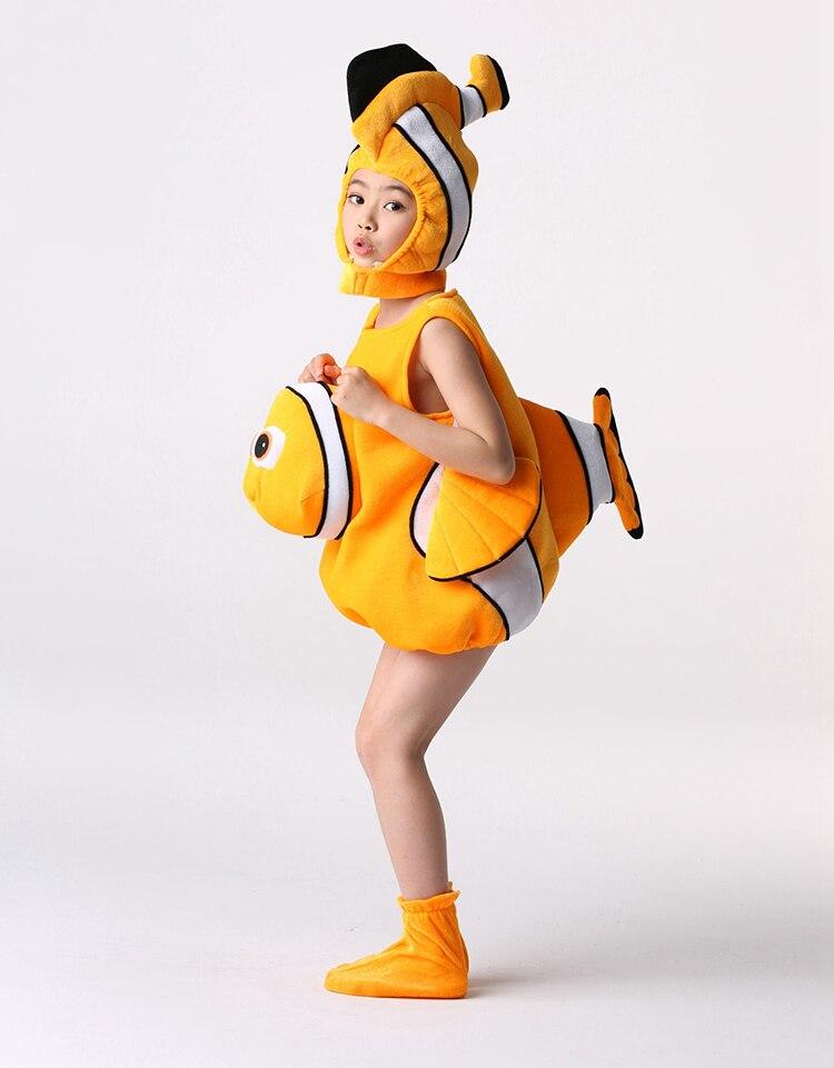 Costume de Cosplay Animal Perforance dauphin, carpe, requin, étoile de mer, crabe, homard et corail