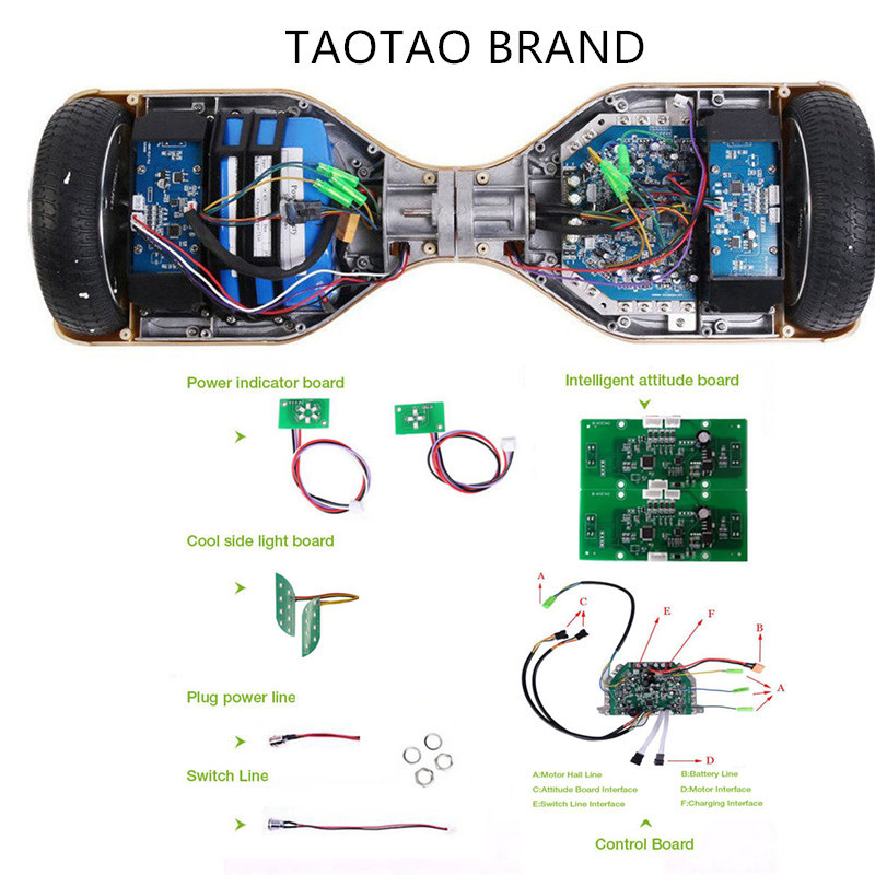 Hoverboard Motherboard conjunto completo con aplicaciones y Auto inclinación características TaoTao