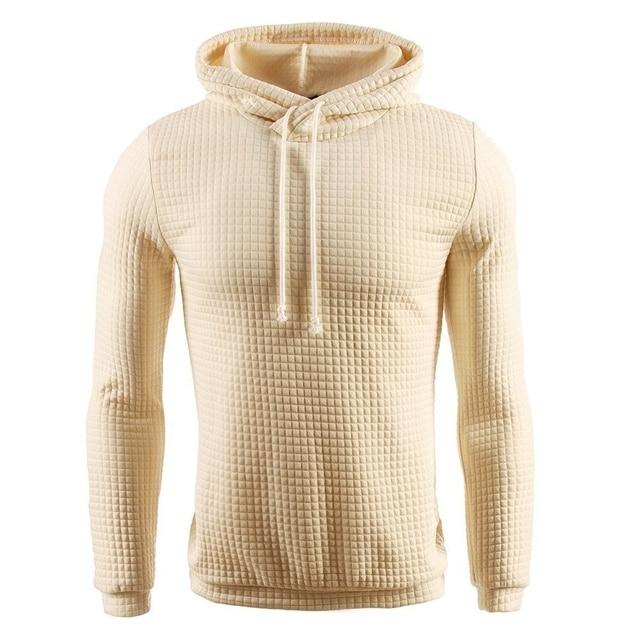 Casual Hoodie Men's Plaid Jacquard Sweatshirt 4