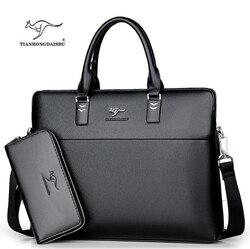 TIANHONGDAISHU Männer Casual Aktentasche Business Schulter Leder Messenger Bags Computer Laptop Handtasche herren Reisetaschen handtaschen