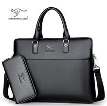 3652822bf4de2 TIANHONGDAISHU Männer Casual Aktentasche Business Schulter Leder Messenger  Bags Computer Laptop Handtasche herren Reisetaschen h.
