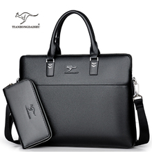 TIANHONGDAISHU Men Casual Briefcase Business Shoulder Leather Messenger Bags Computer