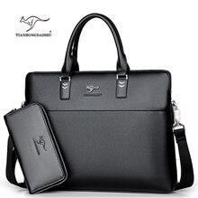 TIANHONGDAISHU для мужчин повседневное Портфели Бизнес плеча кожа курьерские сумки компьютер, ноутбук сумки Мужчин's дорожные сумки