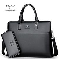 TIANHONGDAISHU Men Casual Briefcase Business Shoulder Leather Messenger Bags Computer Laptop Handbag Men's Travel Bags handbags