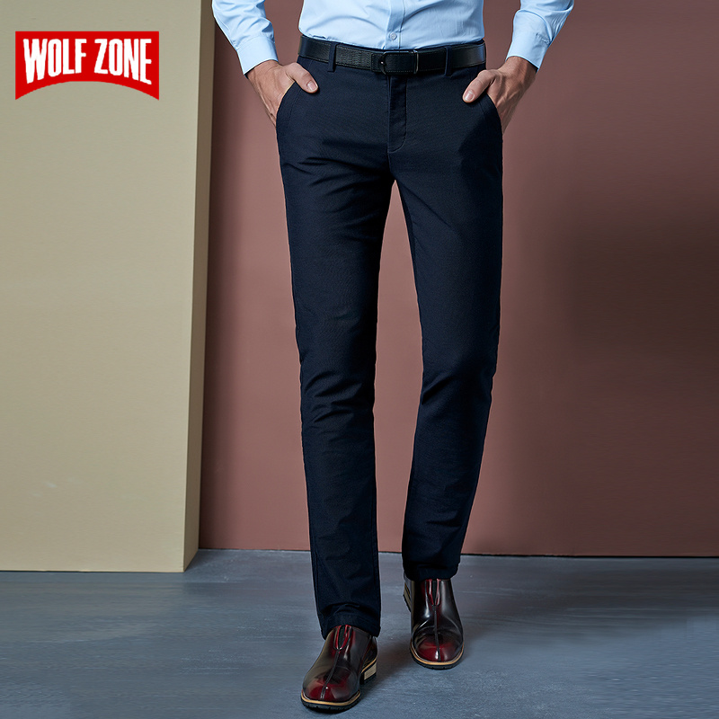 WOLF ZONE Business Casual Pants Fit Stretch Mens Trousers