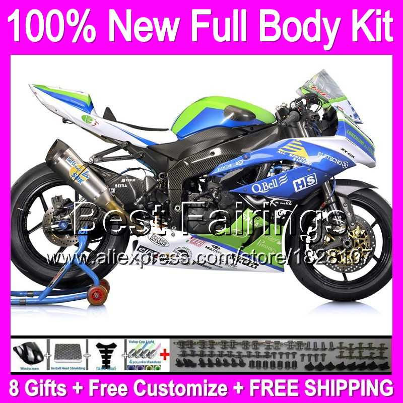 Awesome Decal Fairing Blue White For Kawasaki Ninja Zx6R 2009 2010 2011 Zx636 B092 Zx 6R Zx636 Blue Green Zx 6R 636 Hot 09 10 11 Andrewgaddart Wooden Chair Designs For Living Room Andrewgaddartcom