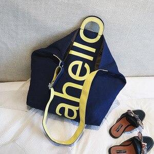 Image 3 - Grand sac à main en toile pour femmes, fourre tout, Portable, grande capacité, tendance pour femmes, nouvelle collection 2018