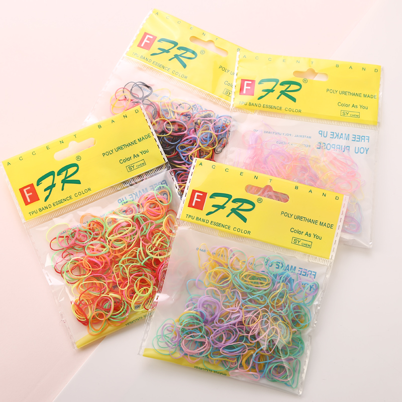 Apparel Accessories ... Headwear ... 32366479240 ... 1 ... AIKELINA 1000pcs/bag (small package) New Child Baby TPU Hair Holders Rubber Bands Elastics Girl's Tie Gum Hair Accessories ...