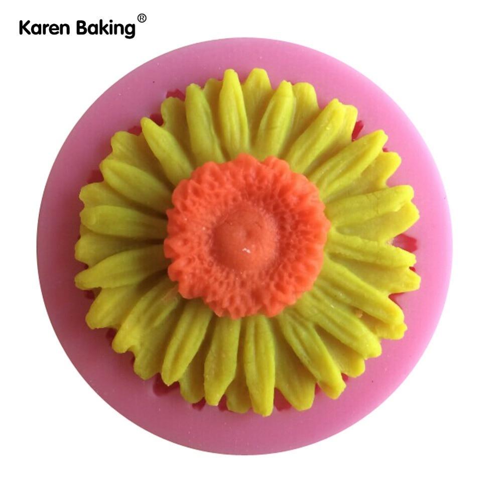 Beautiful Sun Flower Cake Mold Silicone Baking Tools Kitchen