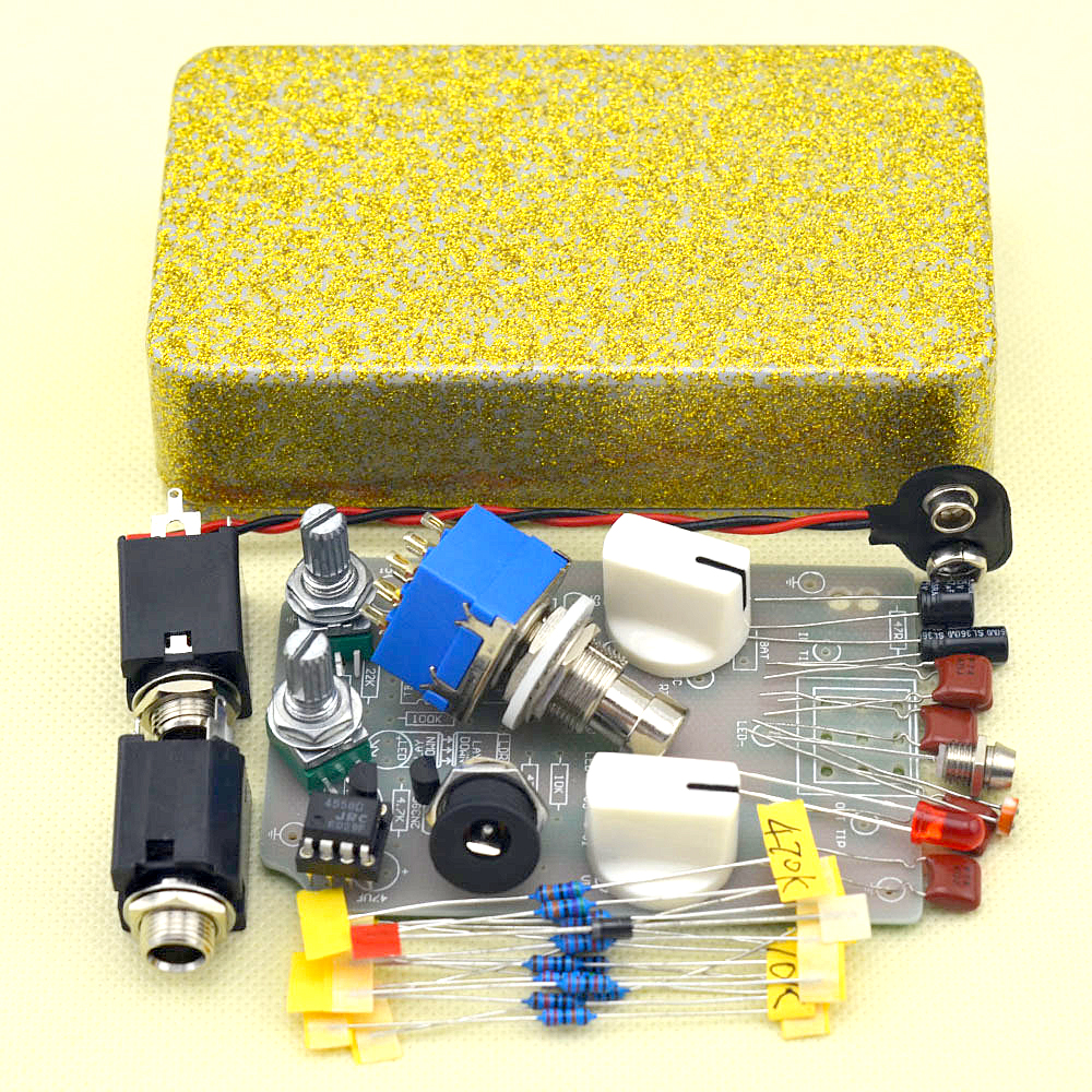 DIY Handmade Compressor effect pedal guitar stomp pedals Kit  with true bypass diy overdrive guitar effect pedal kit true bypass with 1590b box for electric guitar stompbox pedals od1 kits