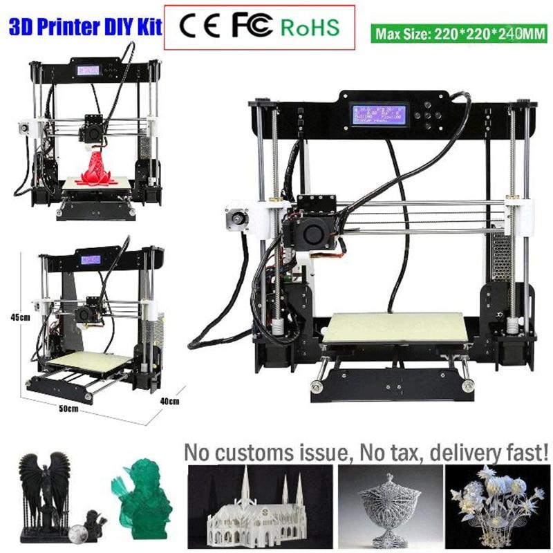 Zrprinting w5 3D Kits d'imprimante Reprap i3 Kit bricolage Kits 3D imprimante avec Filament Reprendre Panne de courant Impression