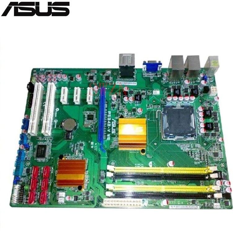 original Used Server motherboard For Asus P5G43-V WS Socket 775 Maximum 4*DDR2 8GB 4xSATAII ATX