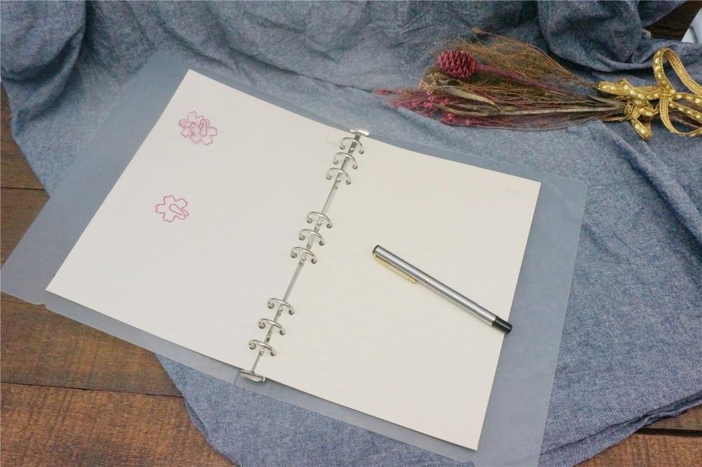 B5 A5 A6 A7 Eenvoudige PP PVC Spiraal Binder Losbladige Notebook Vel - Notitieblokken en schrijfblokken bedrukken - Foto 2