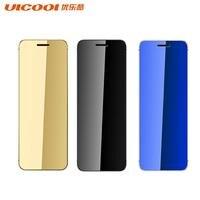 Ulcool V36 Ultrathin Credit Card Cellphone Metal Body Bluetooth 2.0 Dialer Anti lost FM Mp3 Dual SIM Card Mini Mobile Phone