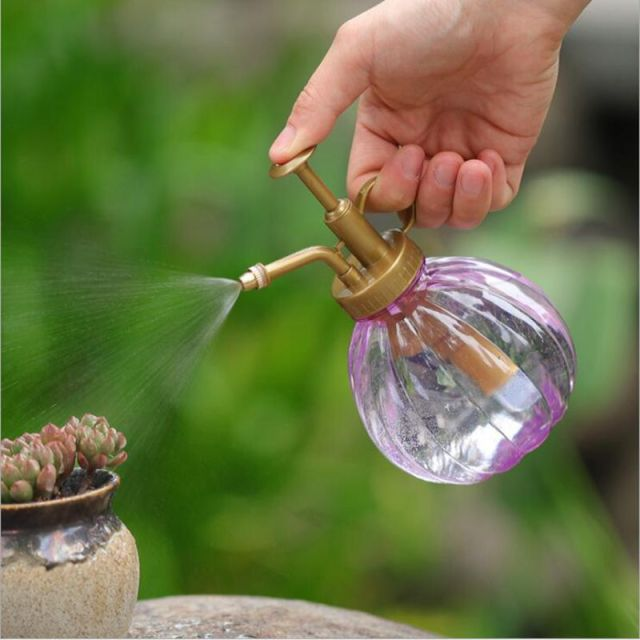 350ML Plant Flower Watering Pot Home Spray Bottle Garden Hand Press Water Sprayer Plastic Bonsai Sprinkler Bottle Container