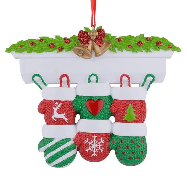 Kaminsims Handschuhe Familie Von 6 Polyresin Weihnachten Personalisierte  Ornamente Für Geschenke Dekoration