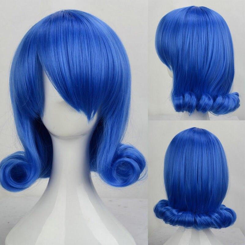 Fairy Tail Juvia lockser 80 см длинные вьющиеся волнистые Косплэй Искусственные парики для Для женщин женские парик поддельные высокое качество Синтет...