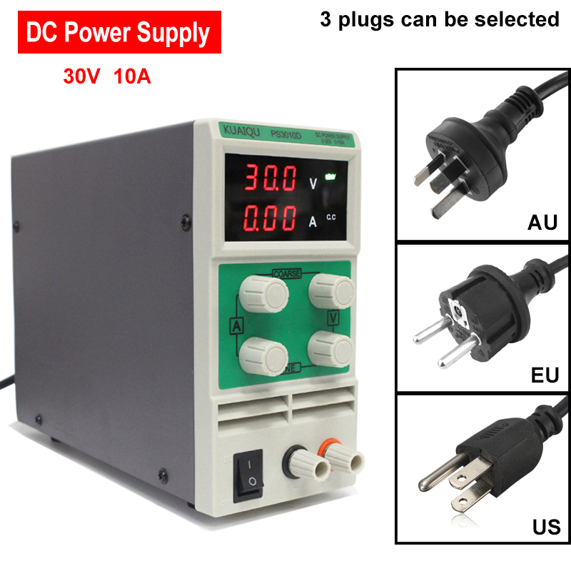 PS3010D DC Power Supply Adjustable 30V 10A Switch laboratory DC power supply 0.1V 0.01A Digital Display Voltage regulator kps6010d 60v 10a high power supply 600w 30v 20a laboratory power supply adjustable 0 1a switch dc power supply
