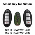 Car Smart Remote Key Fit for Nissan Cube Juke Leaf Quest SENTRA VERSA TIIDA NOTE MICRA Almera CWTWB1U808 CWTWB1U840