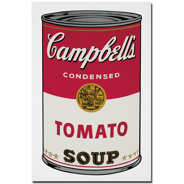 2017 andy warhol campbell 39 s soup can 1965 pop art print wall painting picture home abstract. Black Bedroom Furniture Sets. Home Design Ideas