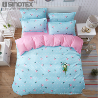 Home Textile Polyester Fabric Bedding Sets Printed Quilt Cover Bed Sheet Pillow Cover Case Decoration Bedroom
