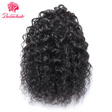 Beauhair12-16inch Brazilian kinky Curly Hair Drawstring Ponytail 100% huamn Hair Extension nature color Non remy hair for women(China)