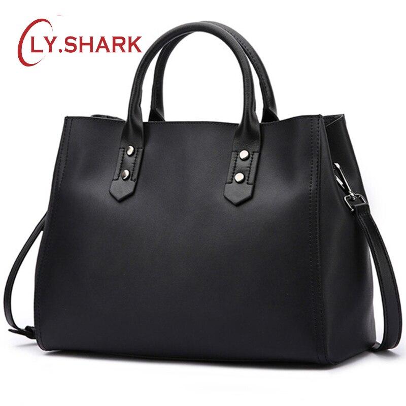 LY. SHARK ของแท้กระเป๋าถือหนังกระเป๋า Crossbody กระเป๋าผู้หญิงกระเป๋าถือสุภาพสตรีผู้หญิง 2019 กระเป๋าสะพายกระเป๋าหญิง-ใน กระเป๋าหูหิ้วด้านบน จาก สัมภาระและกระเป๋า บน   1