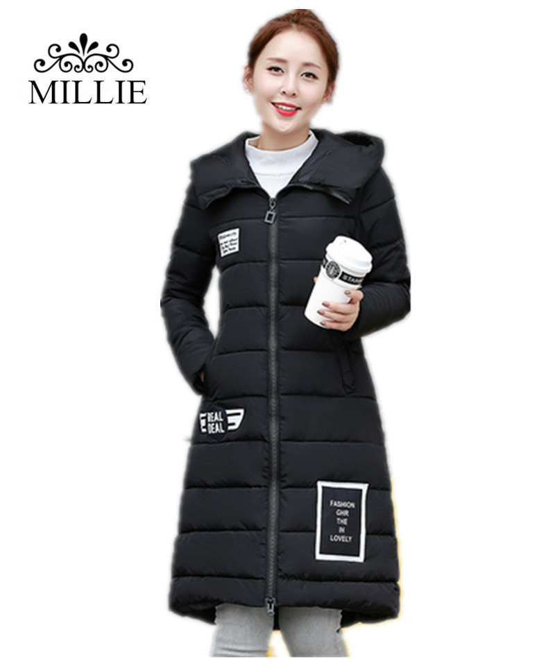 2016 New Women Winter Coat Long Down & Parkas Warm Light Thick Winter Jacket Outwear Coat Plus Size female Hooded Overcoat