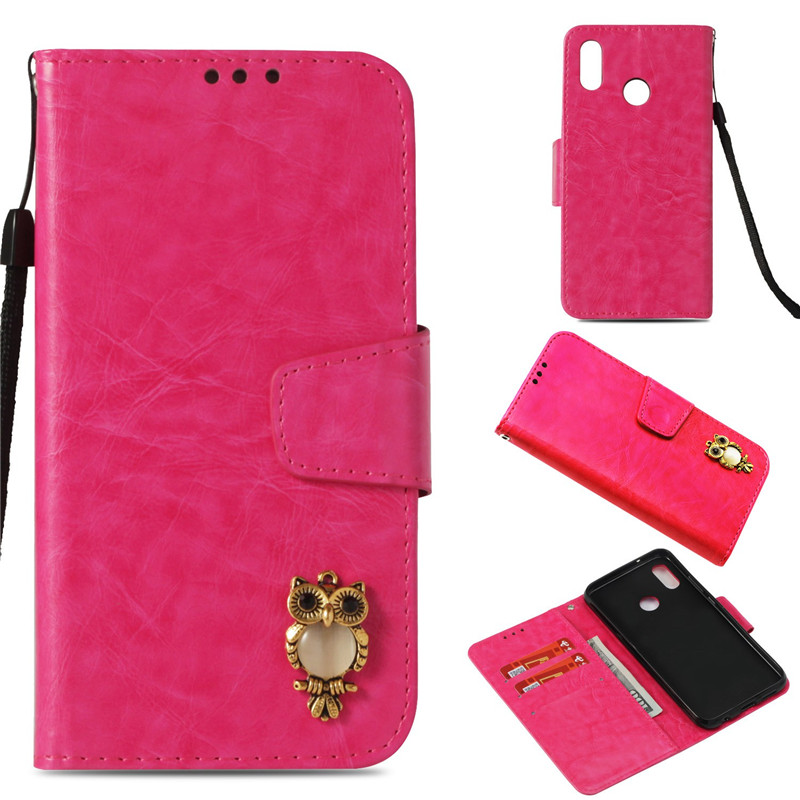 ZRICKIE P20 Lite Case Luxury 3D Cute Owl Wallet Flip PU Leather Case for Huawei P20 Lite P20 Pro Card Slots Cover for Huawei P20
