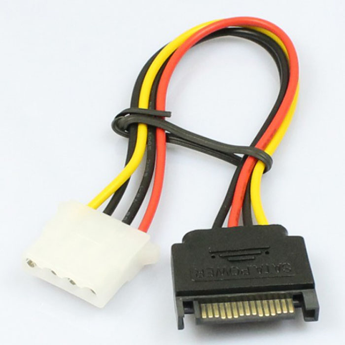 Wholesale 15 Pin SATA Male to 4 Pin Molex Female IDE HDD Power Hard Drive Cable Jun27 Dropship#2 10pcs molex to sata power adaptor cable lead 4 pin ide male to 15 pin hdd serial ata converter cables