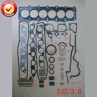 2JZ 2 2JZGE מנוע מלא מלא אטם סט ערכת עבור טויוטה סופרה/כתר לקסוס GS 300 3.0L 2997cc 1991 -2002 04111-46064 01-10013-01